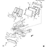 Cadillac XLR LH Left Radiator Rubber Air Deflector Baffle OEM GM 25851240