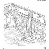 2007-09 Hummer H2 Side Impact Air Bag AirBag Door Sensor Rear (Fits Both Sides)