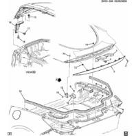 2009-2010 Pontiac Solstice Coupe Stiffener Roof Panel 25869637
