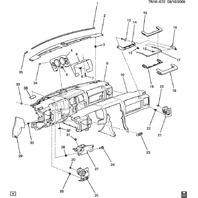 2008-2009 Hummer H2 Instrument Gauge Cluster Trim Bronze New 25872308 15779804
