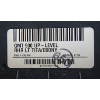 2007-2009 Sierra Silverado Rear RH Door Panel Gray & Black New 25895191 20871483