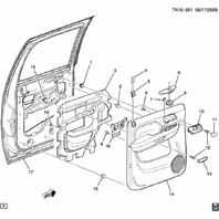 2007-2014 GM Trucks Inside Door Handle Cover New Right Black 25897912 15873033