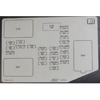 2008-2009 Hummer H2 Interior Fuse Box Cover LH Ebony Black New 25907881 25818887
