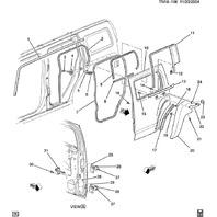 2006-2010 Hummer H3 Right Rear Door Weatherstrip Seal New OEM 25931892 25780294