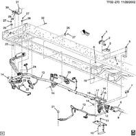 2009 Topkick Kodiak T6500-T7500 Chassis Wiring Harness 7.8-B DIESEL LF8 25937761