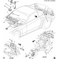 2008-2009 European Corvette C6 & XLR Keyless Entry Receiver 433MHz New 25938512