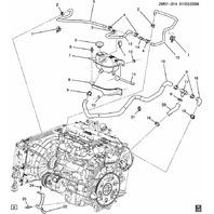 2006-2010 Saturn SKY Turbo Radiator Overflow Hose Assy New OEM 25942438 19130548