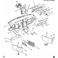 2008-2009 Hummer H2 Dash Compartment Pocket W/Lighter New OEM 25956684 15779844