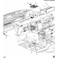 2008-2009 Hummer H2 Rollover Air Bag Airbag Sensor New OEM 10366058 25963388