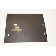 Cadillac XLR RH Right Side Radiator Rubber Air Deflector Baffle OEM GM 25977066