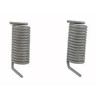 Small Torsion Springs Pack of 2 Silver Metal New 30mm Long 14mm Wide 35357205AA