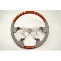 2005-2010 Toyota Avalon Steering Wheel Grey Leather W/Wood Grain No Controls New
