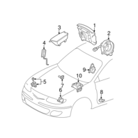 1999-2000 Toyota Solara Camry Steering Wheel Center Horn New Grey 4513006050B1