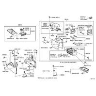 2006-2013 Toyota Highlander GS300 Center Console Rear Facing Vents 5886048030B0