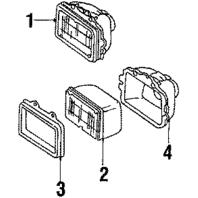 1982-1997 GM Headlight Retaining Ring Sealed Beam Black Metal New OEM 5973455