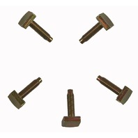 Mitsubishi Forklift Bolts Pack of 5 Offset Head M6 X 1.00 X 24mm New 60830974AA