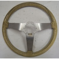 1978-1982 Chevy Corvette C3 Steering Wheel White Leather Used Silver Spokes