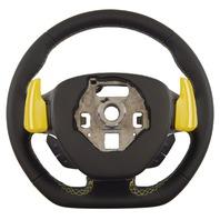 2014-2018 Corvette C7 Steering Wheel Black Leather W/Yellow Stitch New 84198698