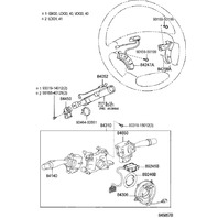 2004-2007 Toyota Land Cruiser Steering Wheel Gray Audio Switch New 8424758020B0