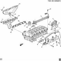 2002-2005 Rainier SSR Trailblazer Exhaust Manifold Gasket New OEM 88890561