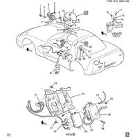 1997-2004 Chevy Corvette C5 Single Horn High Note W/O Bracket Used OEM