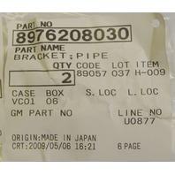 Isuzu Pipe Brackets Qty: 2 New OEM 8976208030