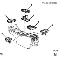 2004-2006 Pontiac GTO Center Console Front Pocket Liner Black New OEM 92084507