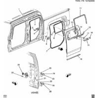 2009-10 Hummer H3T Rear LH or RH Door Body Weatherstrip New OEM 93355101
