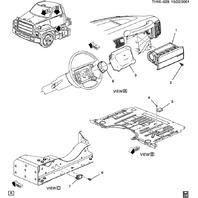 2005-09 Topkick/Kodiak C4500-C8500 Front End Airbag Sensor New 93802514 93441637