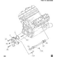 2001-2016 GM Trucks Water Pump Gasket New OEM 94013304 94011694 2512043