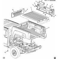 2009-2010 Hummer H3T Bedliner Front Plastic Panel Black 94723188
