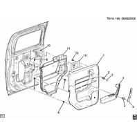 2009-2010 Hummer H3T Right Rear Door Panel Ebony Morocco New OEM 94723407