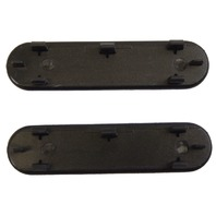 1997-2004 Chevy Corvette C5 Door Panel Handle Plug Access Covers Pair New Black L & R