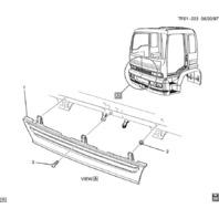1997-09 Isuzu Topkick Tilt Cab Front Grille Black T6500 T7500 T8500 New 97718687