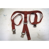 1968-1982 Chevy Corvette C3 T-Tops Cargo Straps Red Used