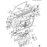 1984-96 Chevy Corvette C4 Door Hinges Upper & Lower Black Used 14043176 14043177