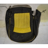 1997-2004 Chevy Corvette C5 Sport Passenger Side Lower Seat Cover Yellow & Black Used