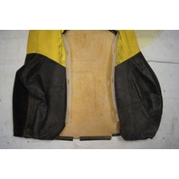 1997-04 Chevy Corvette C5 Sport Driver Side Upper Seat Cover Yellow & Black Used