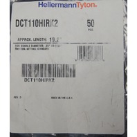 "Hellermann Tyton Dual Tie Clamp 19.2"" Length Diameter .25""-2.30"" DCT110HIRK2"