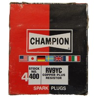 Champion Copper Plus Resistor Spark Plugs Box Of 4 New Old Stock RV9YC-400