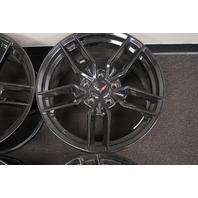 "Chevy Corvette C7 Replica Wheel Set 17""X8.5"" 18""X9.5"" Black Used Style 160"